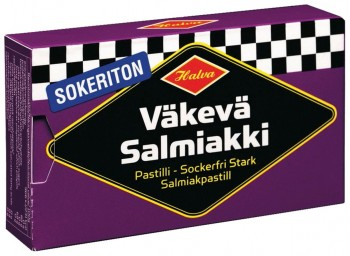 30 Pckg. starke Salmiakpastillen, zuckerfrei, Halva
