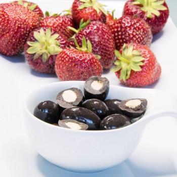250 Gramm Narr Mandeln mit Meersalz und dunkler Schokolade