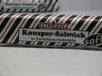 Knusper-Salmiak in Zartbitterschokolade, soft, von Salzinger aus Deutschland
