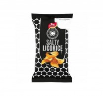 MHD 01-2018 / Kartoffel Chips Salzlakritz, Lakritz-Chips, salty licorice