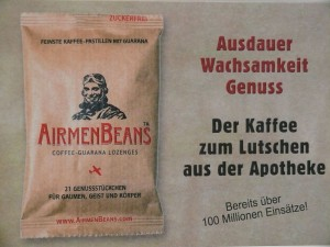 1 Pckg. AirmenBeans - Kaffee-Guarana-Pastillen