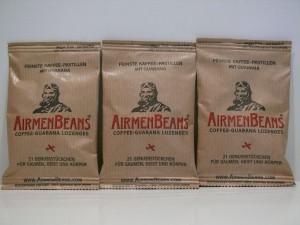 3 Pckg. AirmenBeans - Kaffee-Guarana-Pastillen