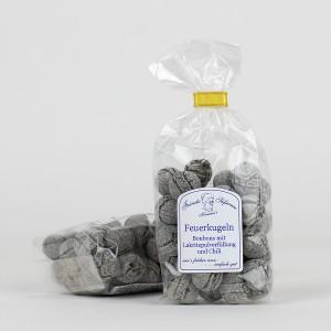 Feuerkugeln-Bonbons mit Lakritzpulver und Chili