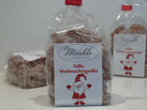 süße Weihnachtsgrüße, Apfel & Mandel-Bonbons