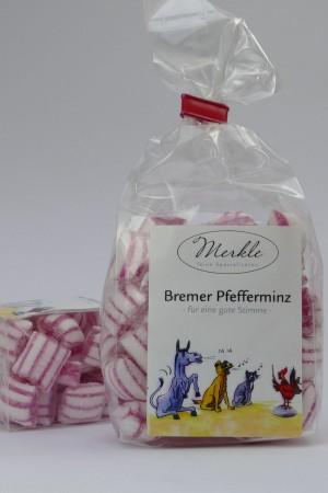 Bremer Stadtmusikanten Pfefferminz Bonbons - für eine gute Stimme -