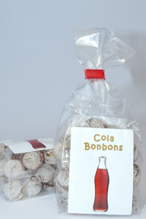 Cola Bonbons, runde Bonbons mit Cola Geschmack