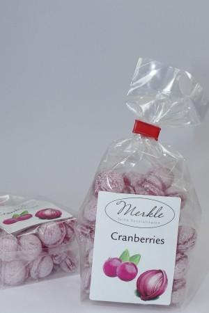 Cranberry Bonbons, rote Kugeln