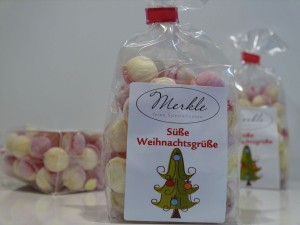 süße Weihnachtsgrüße, Glühwein & Eierpunsch-Bonbons