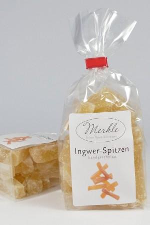 Ingwer-Spitzen, handgeschnitzt