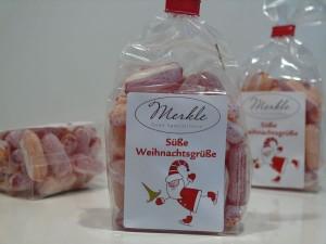 süße Weihnachtsgrüße, Kaminzauber-Bonbons, Punschbonbons