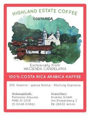 PROBIERAKTION 250 Gramm Costa Rica Espresso -Bohnen-