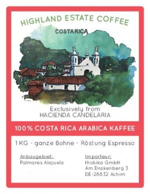 MHD 10-2018 / 1 kg Costa Rica Espresso -Bohnen-