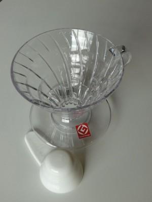 HARIO V60 Dripper, Kunststoff transparent, V60-02