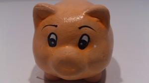"""Glücksschwein mit Schriftzug """"Viel Glück"""" auf der Seite"""