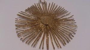 Deckenhänger Advent, Dekorationsstern in runder Form, Durchmesser 10,0 cm