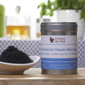 grobes schwarzes Hawaii Salz - große Aromadose