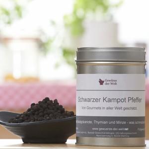 schwarzer Kampot Pfeffer - große Aromadose