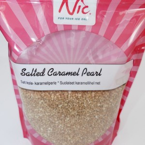 MHD 09/2018 - NIC crunchy Salzkaramel / salted caramel pearls, 1 Kilogramm