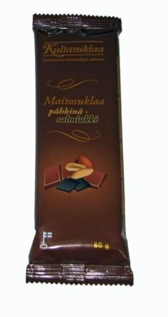 Kultasuklaa - Vollmilchschokolade mit Erdnuss und Lakritzstücken
