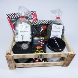 thokika Lakritz-Geschenk-Holzbox / Lakritz - Set