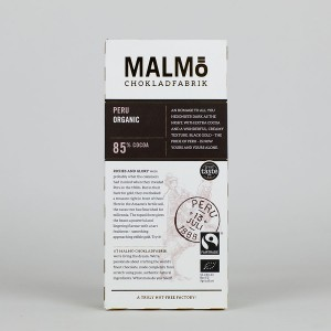 MALMÖ - 85 % - Edelbitter Schokolade, organic & fairtrade