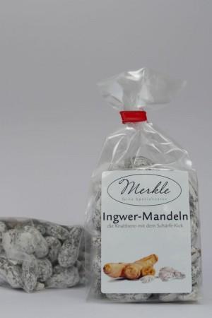 Ingwermandeln, geröstete Mandeln in Ingwerpuderzucker gewälzt