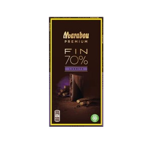 MHD 11-2018 / Marabou 70% Schokolade mit Lakritz, feinherb