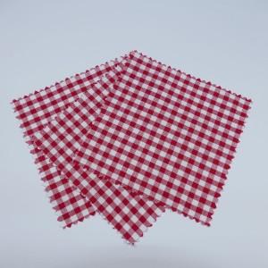 3 x Hauben-/Deckchen für Marmeladengläser - rot weiß kariert
