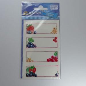 selbstklebende Etiketten für Marmeladengläser (Beerenmotive), 12 Stück