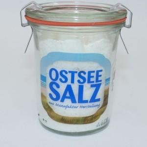norddeutsches Ostseesalz, fein - im Weck-Glas