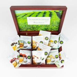 Wooden Display Box Revolution Tea foils with 12 varieties