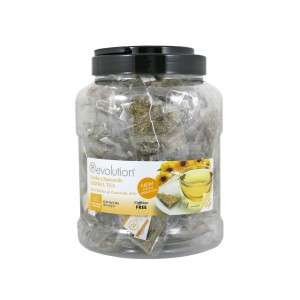 Revolution Tee - Golden Chamomile Herbal Tea - 60 Teebeutel Großpackung - koffeinfrei