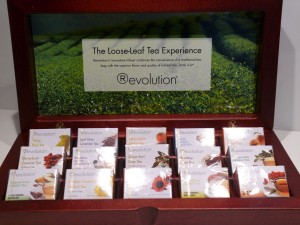 Wooden Display Box Revolution Tea with 15 varieties