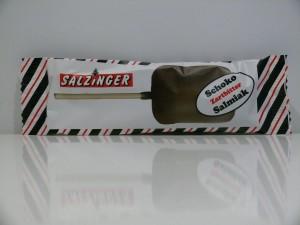 Zartbitterschokoladen Salmiak Lolly von Salzinger aus Deutschland