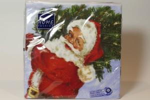 Servietten - Weihnachtsmann mit Tannenbaum, 25x25 cm