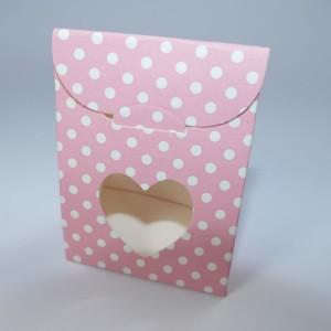 rosa Mini-Geschenktüte mit Boden, mit Sichtfenster (60 x 35 x 80 mm)