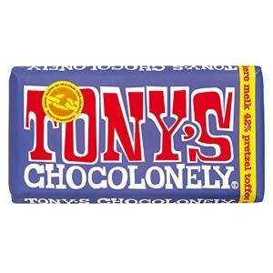 TONY´S CHOCOLONELY - Brezel Toffee in dunkler Vollmilchschokolade