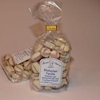Rhabarber-Vanille-Bonbons mit Rhabarbersaft