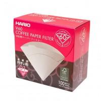 HARIO Papierfilter für V60, VCF-01-100WK, weiß, 100 Stück