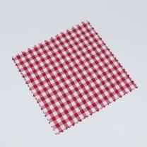 Hauben-/Deckchen für Marmeladengläser - rot weiß kariert