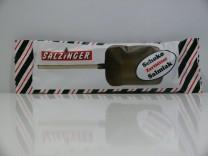 Zartbitterschokoladen Salmiak Lolly von Salzinger
