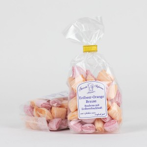 Erdbeer-Orange-Brausebonbons