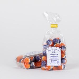 Sanddorn-Holunder-Bonbons, zuckerfreie Bonbons