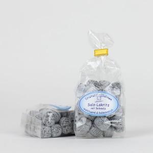 Salzlakritz-Bonbons mit Solesalz
