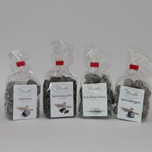 Lakritzbonsche / Lakritzbonbons (4 Sorten) - für Erwachsene