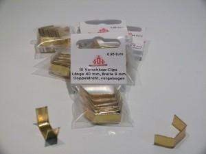 Verschlussclips, 10 Stück, Farbe : gold, 4 cm