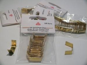 Verschlussclips, 25 Stück, Farbe : gold, 4 cm