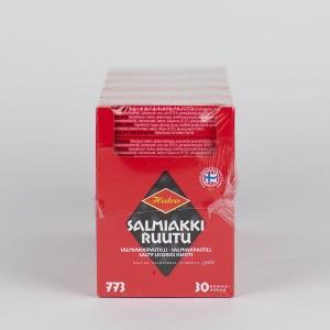 MHD 01-2020 / 30 Pckg. Salmiakkipastilli (34 Gramm), Halva Salmiakki Ruutu