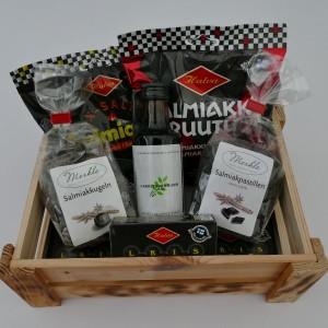 thokika Lakritz-Geschenk-Holzbox / Lakritz - Set No.1