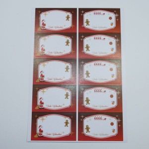 weihnachtliche Etiketten für Marmeladengläser / Keksgläser